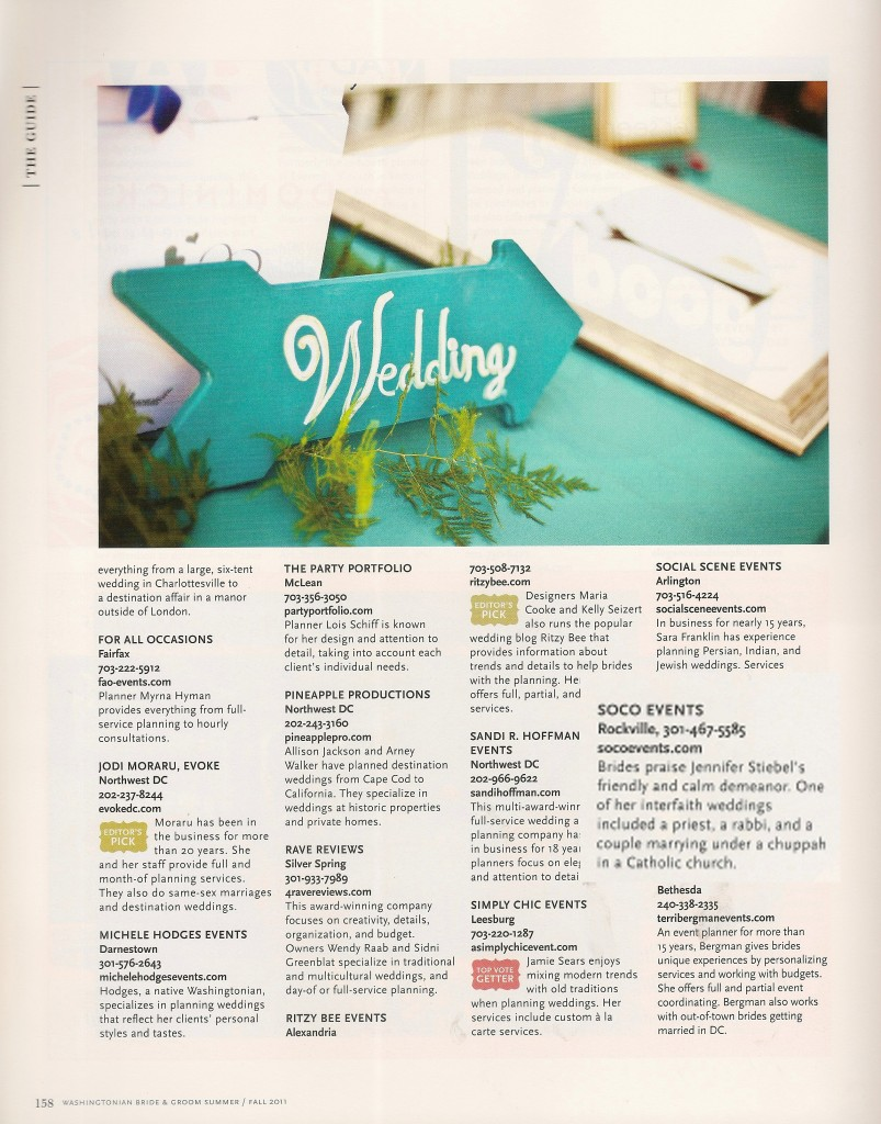 FALL 2011 WASHINGTONIAN BG -BEST OF LIST