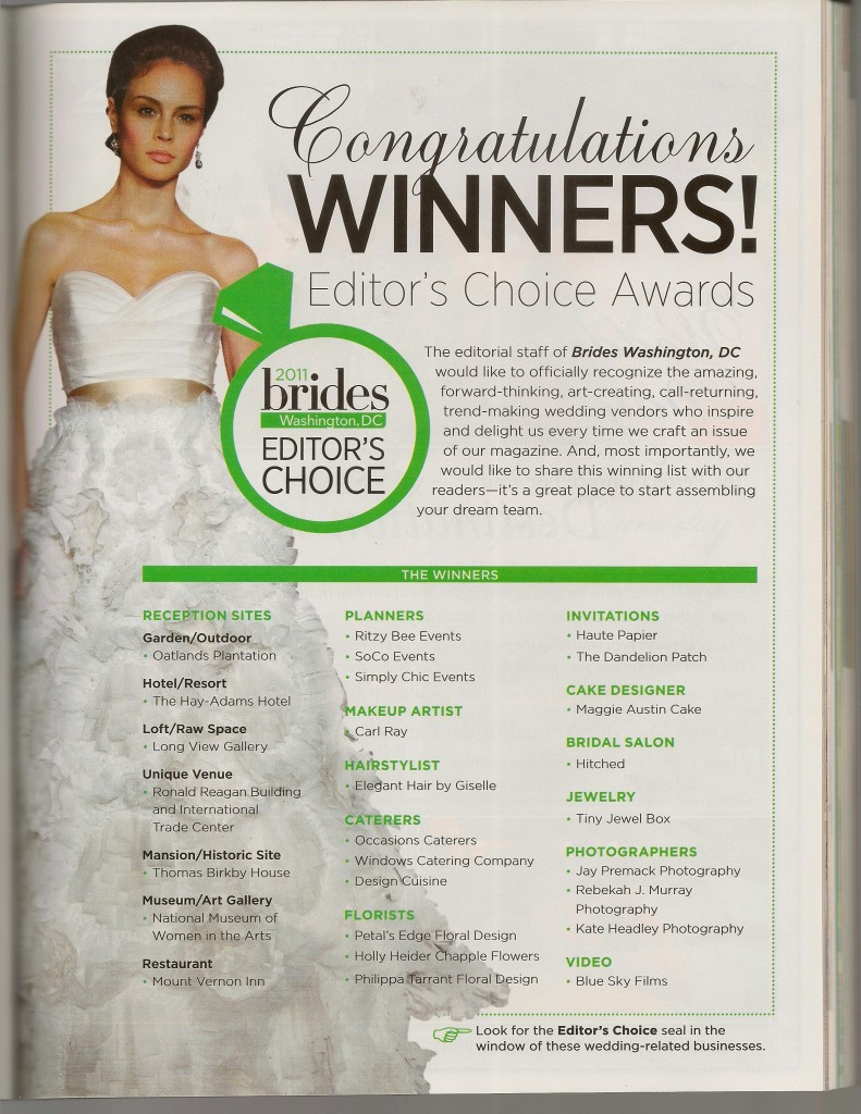 BRIDES FALL 2011-EDITORS CHOICE