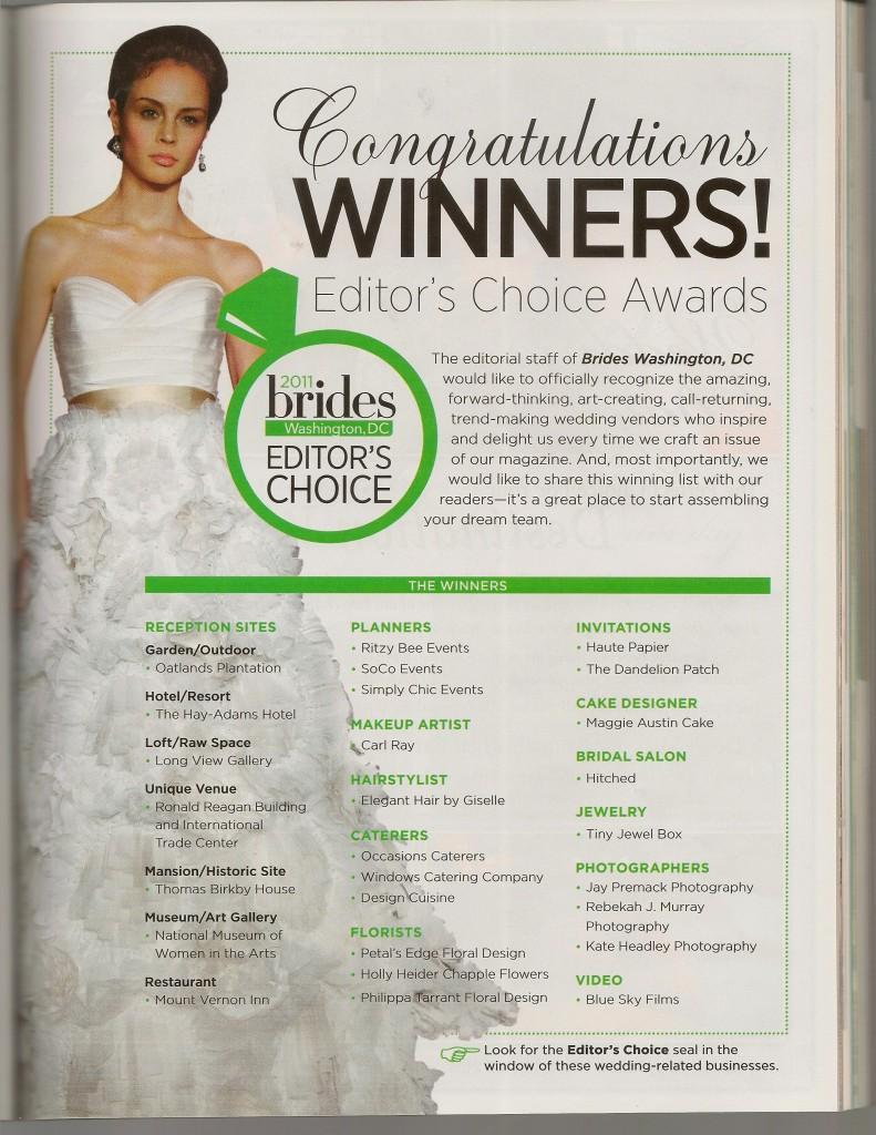 BRIDES FALL 2011-EDITORS CHOICE