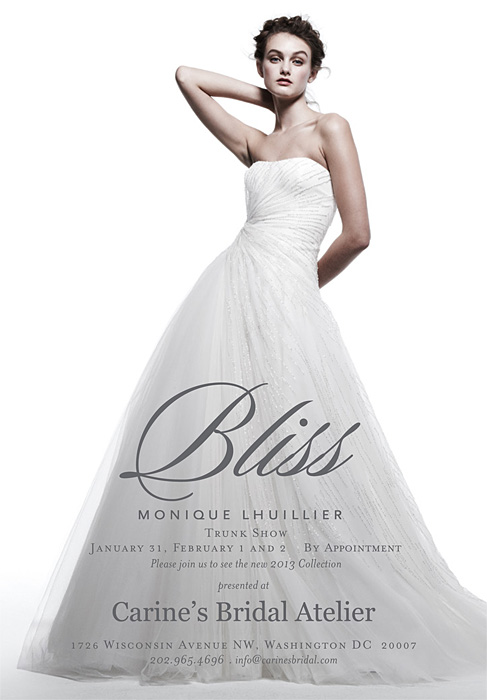 CarinesBridal ML Bliss Trunk show 1.31-2.2