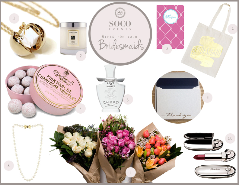 Soco Events Wedding Gift Guide Bridesmaids Soco Events