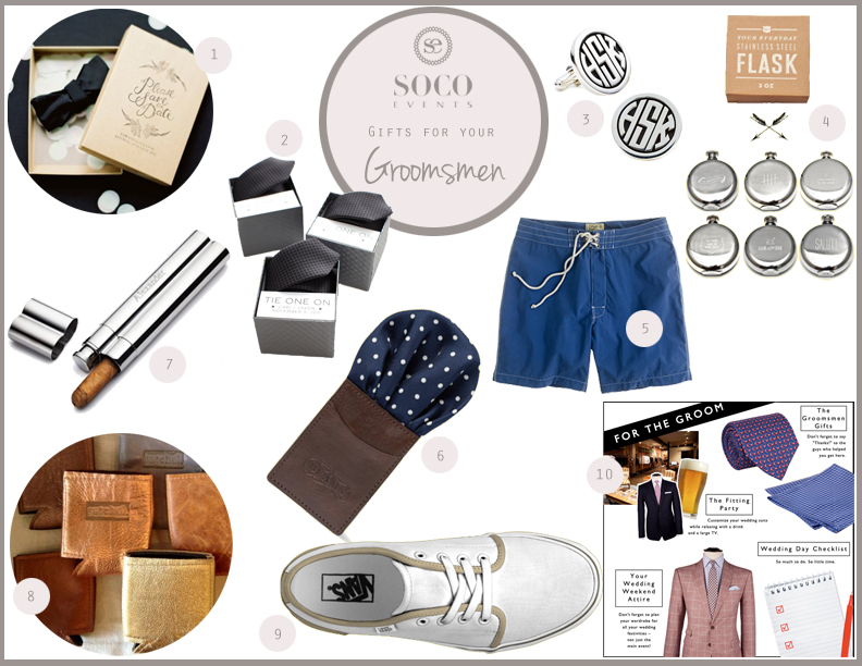 SoCo Events Wedding Gift Guide: Groomsmen April 18, 2013